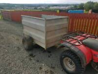 Quad atv livestock trailer farm livestock tractor