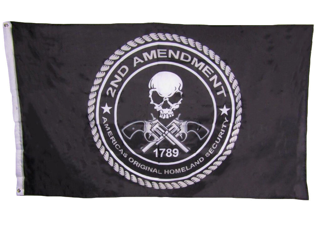 3x5 2nd second Amendment America's Original Homeland Security 1789 Skull Flag