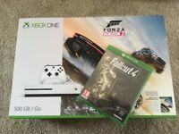 XBOX One S 500gb with Forza Horizon 3 & Fallout 4. New & Sealed