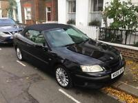 Saab 9-3 Vector convertible in metallic black