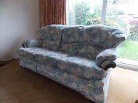 G Plan Three piece suite comprising 3 seater sofa, 2 seater sofa + armchair