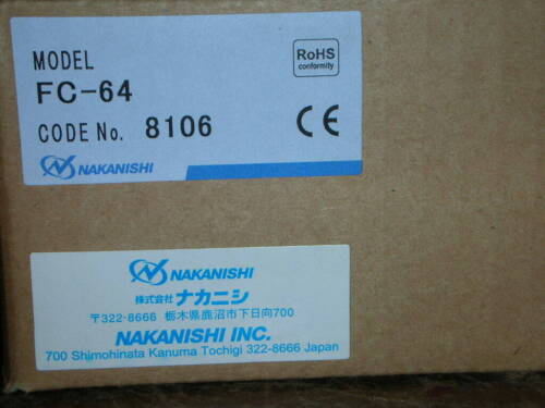 NSK Nakanishi FC-64 FC64 Foot Pedal Control for Emax Evolution Ultimate XL NEW!!
