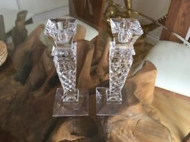 Candle holder crystal ( Pair)