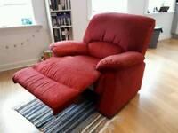 Red /Armchair / Super comfy/ Recliner