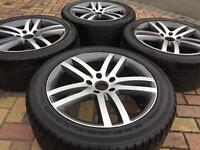 """Brand New 20"""" Audi Q7 Alloy wheels and Used 275/45/20 tyres - Also Fit Porsche"""