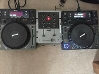 Gemini CDJ 600 w/USB X2 (pair) & Numark M1 Mixer Excellent Condition