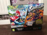 Nintendo wii u 32gb premium console with Mario Kart 8 + Splatoon