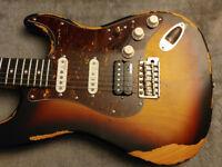 Vintage V6 Icon series HSS in distressed sunburst finish