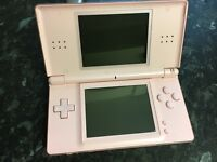 Nintendo DS Pink With Boxed Games