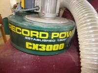 Record Power CX3000 240v Heavy Duty Chip Extractor £170 rrp £340