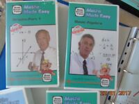Maths and English lessons on VHS video with exercise books: The Student Support Centre