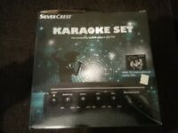 Karaoke Set, Mint Condition, perfect for partys.