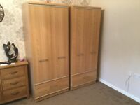 Two matching wardrobes
