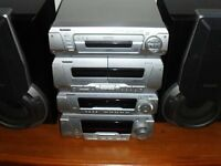 TECHNICS 5 CD STEREO HI-FI SYSTEM SEPARATES BIG PARTY SOUND FROM THIS COMPACT UNIT , FORFAR