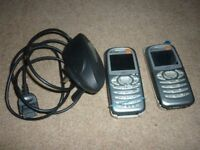 A pair of Sony Ericsson C510. Little used & ideal as starters for juveniles