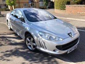 Peugeot 407 in silver, full service history, 2.2 SE coupe 2 door petrol manual