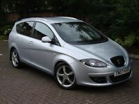 EXCELLENT MODEL!!! 2007 SEAT ALTEA XL 2.0 TDI 170 BHP STYLANCE 5dr, 1 FORMER KEEPER, 1 YEAR MOT,