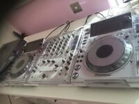 White CDJ 2000 pair and DJM 900 Nexus - very rare Limited Edition only 500 sets worldwide