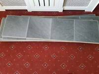 Black slate tile effect laminate