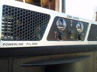 Carlsbro Powerline Pro 2000 Professional PA Power Amp Amplifier