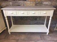 Beautiful natural country cottage console table