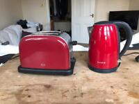 Red Kettle and Toaster