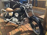 Honda shadow 125 motorcycle