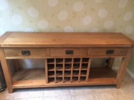 Stunning solid wood sideboard