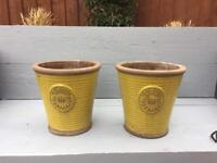 Pair of royal garden pottery pots