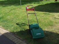 qualcast concorde 32 cylinder mower with grassbox.