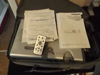 Panasonic Projector with Remote Control, Carry Case, Ceiling Bracket and Owners Manuals