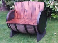 Oak barrel garen furniture for garden patio bar pub