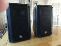 PA SYSTEM - DYNACORD POWERMATE 600 WITH YAMAHA CBR10 SPEAKERS.