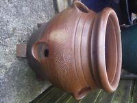 errington reay salt glazed strawberry/herb/alpine pot