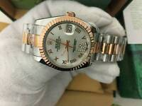 New Swiss Men's Rolex Oyster Datejust Perpetual Automatic Watch, two tone