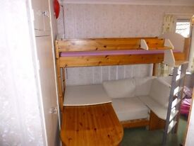 Stompa Casa 4 High Sleeper Bed with Pull-out Desk, Sofa Bed and Storage.