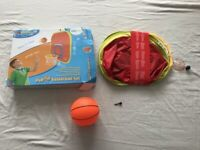 2 x Basketball sets. 2 hoops & 4 basketballs. Excellent condition