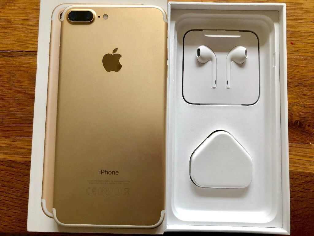 apple iphone 7 plus gold 128gb unlocked immaculate. Black Bedroom Furniture Sets. Home Design Ideas