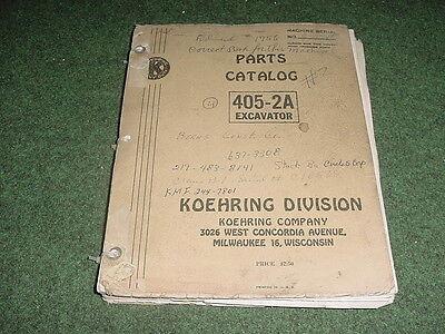 Koehring 405-2a Excavator Parts Catalog Manual Machine C 10946 1958 4 405