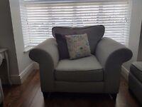 DFS Grey Fabric Armchair