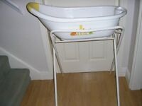Mothercare White Baby Bath and Stand