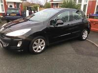 Black Peugeot 308 Sport 5 Door 2010 (59 Plate) Low Mileage, Low Tax