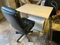 Desks and chairs