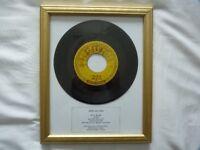 FRAMED ORIGINAL 1957 US JERRY LEE LEWIS SINGLE - IT'LL BE ME (SUN 267)