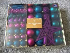 50 piece Christmas decoration set