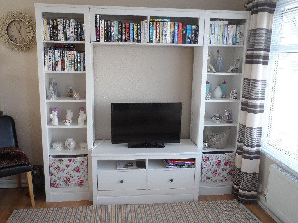 ikea hemnes tv storage unit combination  in caerphilly