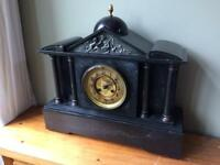 Antique slate mantle clock with chime.