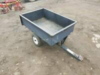 Ride on lawn mower small quad tipping trailer