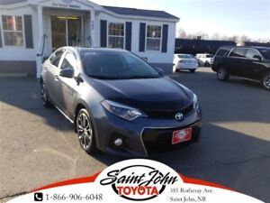 2015 Toyota Corolla S ALLOYS + SUNROOF $139.22 BIWEEKLY!!!