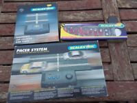 Scalextric pit crew, lap counter and pacer